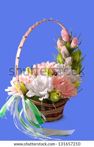 Baskets of flowers from candy