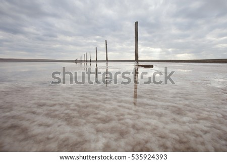 Baskunchak salt lake #535924393