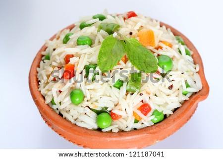 basmati,rice with vegetables,