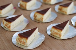 Basque Burnt Cheesecake cut one piece