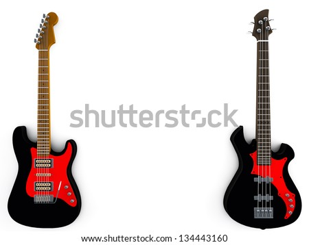 Bass and guitar background
