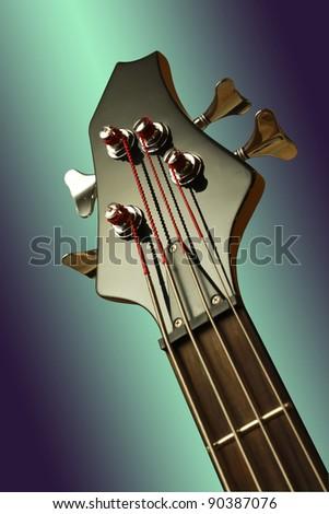 bass guitar - close-up details