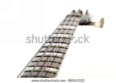 bass guitar isolated on white background