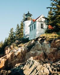 Bass Harbor Lighthouse, in Acadia National Park, Maine