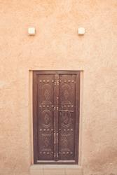 Bastakiya - old town with arabic architecture in Dubai, UAE