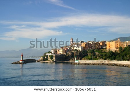 Bastia is a commercial port town  found to the north-east of Corsica