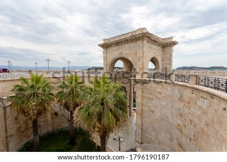 Bastion of Saint Remy in Cagliari on the island of Sardinia, Italy. Stock photo ©