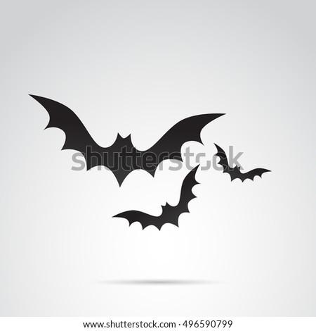 Bat icon isolated on white background.