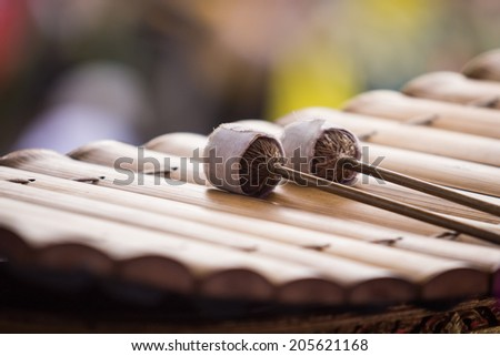 Bat marimba on xylophone #205621168