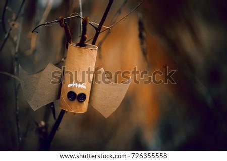 Stock Photo Bat of Halloween,for Halloween concept background. DIY.