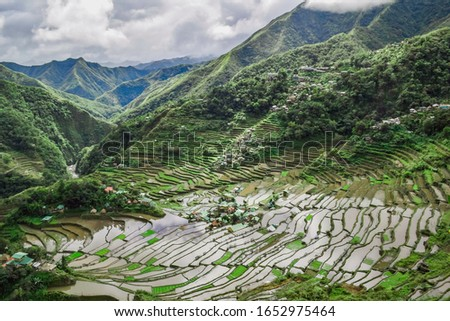 Batad rice terraces which are a UNESCO World Heritage Site in the Philippines