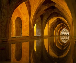 Bath in Alcazar, Seville, Spain