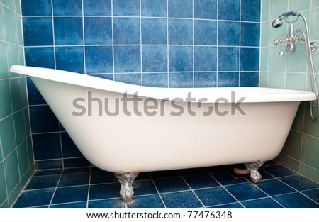 Bath in small bathroom