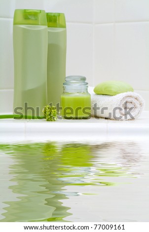 Bath Spa Beauty Products - stock photo