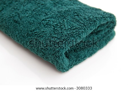 bath towel - stock photo