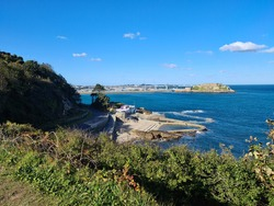 Bathing Pools and Castle Cornet, Guernsey Channel Islands