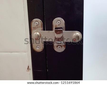 Bathroom door locks. #1251691864