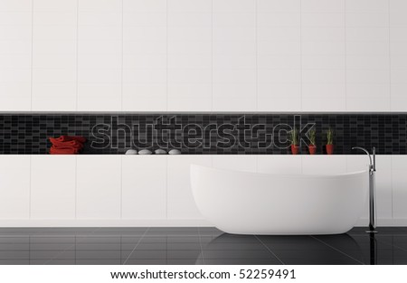 bathroom interior 3d render