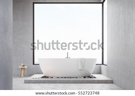 bathroom interior with large...