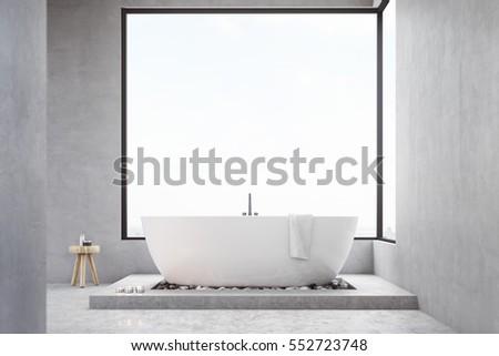 bathroom interior with large...