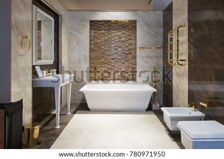 bathroom interior with shower...