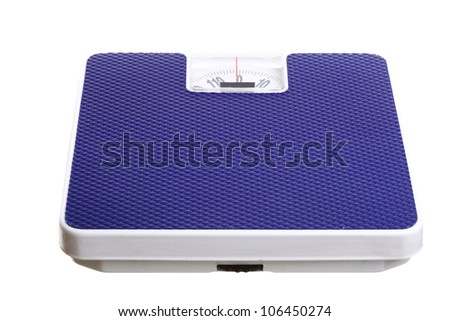 Bathroom weight scale isolated on white background Dieting concept