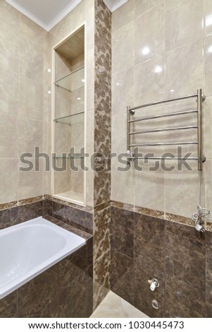 bathroom with a beautiful interior #1030445473
