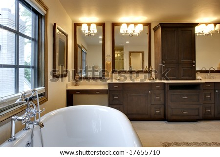 Bathroom with Tub and Granite Counters