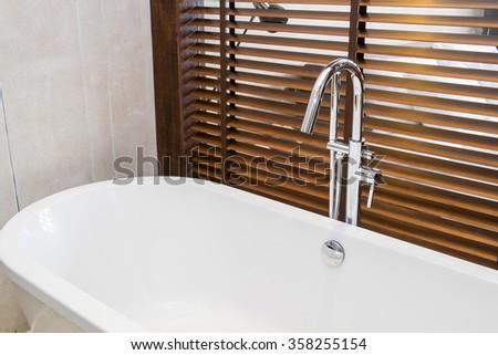 bathtub in modern bathroom #358255154