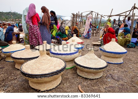 BATI, ETHIOPIA - AUGUST 1: The Bati market is one of the most important of Ethiopia, brings together various ethnic groups, such as Afar and Oromo, August 1, 2011 in Bati, Ethiopia