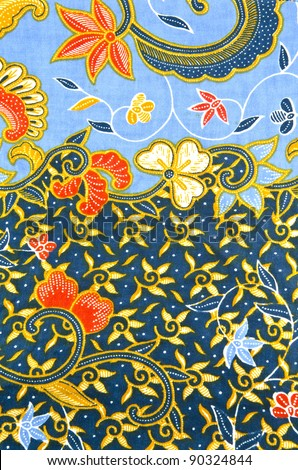 Batik design in sea and ocean concept.
