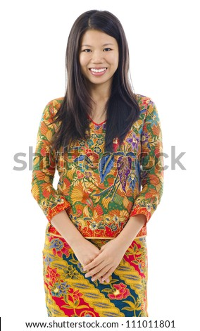 Batik usually worn by women in Indonesia, Malaysia, Brunei, Burma, Singapore, southern Thailand.