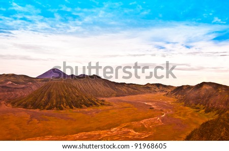 Batok and Bromo Volcano form East Java, Indonesia.