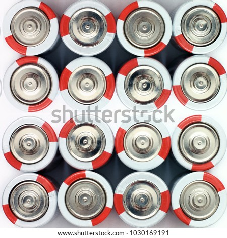 Batteries. Battery. Background of the batteries. #1030169191