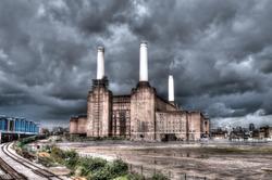 Battersea power station in London, UK. HDR