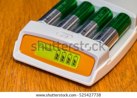battery charger aa Foto stock ©