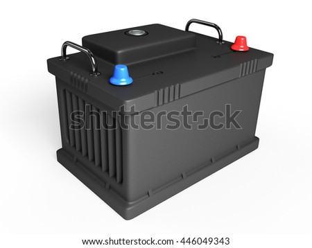 battery on white background 3D #446049343