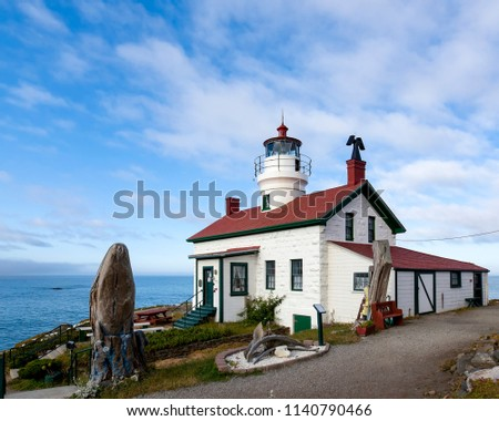 Battery Point Lighthouse, Crescent City, Del Norte County, California is accessible on foot only at low tide.