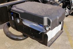 Battery 12 volt 100 amp large size installed of 6 wheel medium duty truck