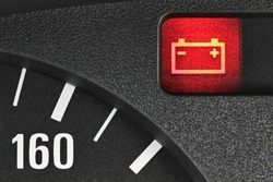 battery warning light in car dashboard