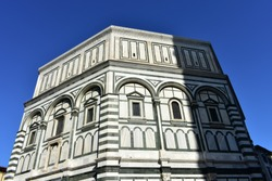 Battistero di San Giovanni (Florence Baptistery, Baptistery of Saint John) at Piazza del Duomo. Florence, Italy.