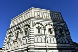 Battistero di San Giovanni (Florence Baptistery, Baptistery of Saint John) at Piazza del Duomo. Florence, Italy.