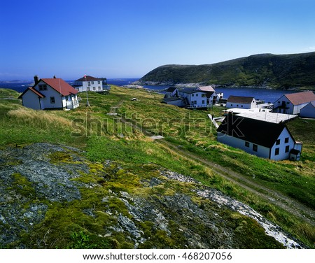 Battle Harbour, Newfoundland, Canada - Once the bustling salt fish capital of Labrador, is perfectly preserved. Houses, stores, fishery and churches have been restored with historical original items.