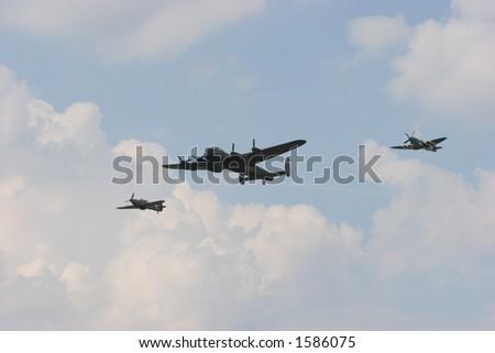 Battle of Britain Memorial Flight (Hurricane, Spitfire, Lancaster)