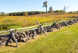 Battlefield wooden fence