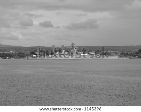 Battleship Missouri - stock photo