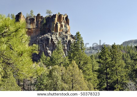 Battleship Rock in Jemez Mountain New Mexico