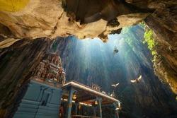 Batu Caves temple within cave in Kuala Lumpur, Malaysia