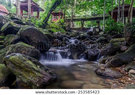 Batu Hampar waterfall located at Kedah, Malaysia.  Best travel location in Yan, Kedah.