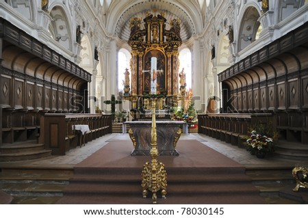 Bavarian Baroque, Steingaden, Bavaria, Germany